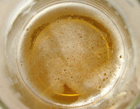 Inside a mug of beer Stock Images