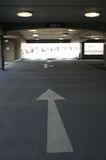 Inside multi storey car park Royalty Free Stock Photos