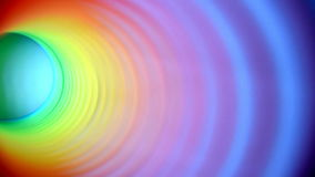 Inside of multicolor spring moving side to side out of frame stock video footage