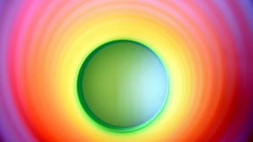 Inside of multicolor spring rippling color change stock video footage