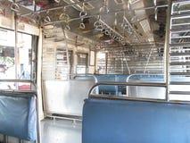 Inside Mumbai local train. Its photo of interior of local train at Mumbai,India royalty free stock photography