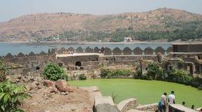 Inside  Murud Janjira Fort Royalty Free Stock Photo