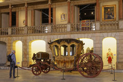 Inside Museu dos Coches Stock Images