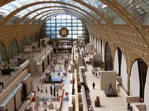 Inside of the Museum D'Orsay stock photos