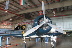 Inside museum hangar Royalty Free Stock Images
