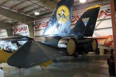 Inside museum hangar Stock Photography