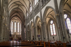 Inside the Myeongdong Cathedral in Seoul Stock Image