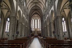 Inside the Myeongdong Cathedral in Seoul Royalty Free Stock Images