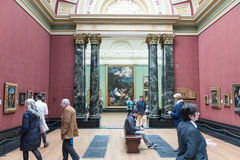 Inside of the National Gallery, London Royalty Free Stock Images