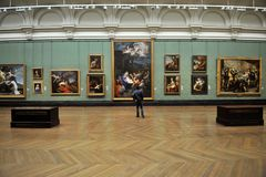 Inside National Gallery Museum in London, England Stock Images