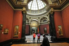 Inside National Gallery Museum in London, England Royalty Free Stock Photo