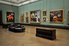 Inside National Gallery Museum in London, England Stock Image