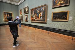Inside National Gallery Museum in London, England Stock Photos