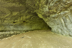 Inside Natural Bridge Arch Stock Photography