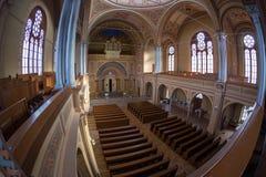 Inside of the Neolog Synagogue Zion. Oradea, Romania Royalty Free Stock Photos