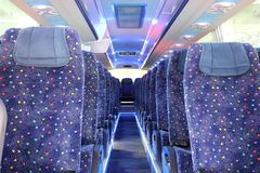 Inside of new bus Stock Photography