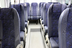Inside of new bus Stock Photo