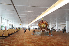 Inside New Delhi International airport Royalty Free Stock Photos