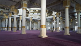 Inside new mosque , Oran Algeria. The interior of the new mosque is grandiose Stock Photography