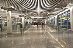 Inside the new Terminal  in Frankfurt Stock Photography