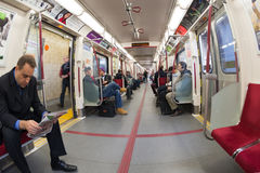 Inside the new TTC Bombardier trains in Toronto Royalty Free Stock Photography