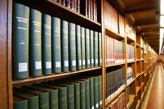 Inside the New York City Public Library Stock Image