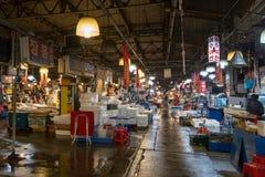 Inside the Noryangjin Fish Market in Seoul Royalty Free Stock Photo