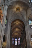 Inside Notre Damae katedra Paryż Zdjęcia Royalty Free
