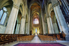 Inside Notre Dame Cathedral Stock Photos