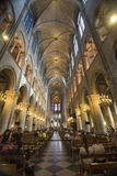 Inside of Notre Dame Cathedral royalty free stock image