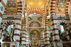 Inside of Notre Dame de la Garde, Marseille. Located in French second largest city, Marseille Royalty Free Stock Photography
