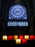 Window of Notre Dame. Inside Notre-Dame de Paris, in France royalty free stock image