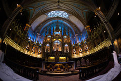 Inside Notre Dame. In Montreal, Quebec Royalty Free Stock Photo