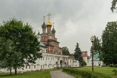 Inside the Novodevichy convent in Moscow, Russia Stock Images