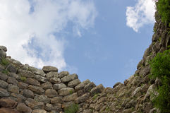 Inside the Nuraghe Stock Photo