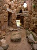 Inside of nuragic complex of Palmavera. A view from inside of nuragic village of Palmavera in north-west Sardinia Stock Photos
