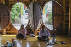Inside Nyan Shwe Kgua temple. Stock Photography