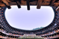 Inside Of Earth Castle, Featured Residence In South Of China Stock Images