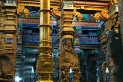 Inside Of Meenakshi Hindu Temple In Madurai, India Royalty Free Stock Images
