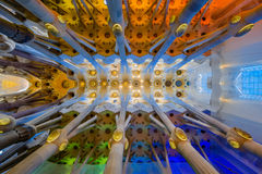 Inside Of Sagrada Familia Stock Photography