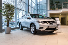 Inside in the office of official dealer Nissan. Royalty Free Stock Images