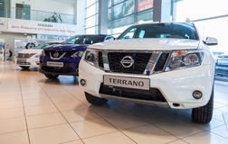 Inside in the office of official dealer Nissan Royalty Free Stock Photography