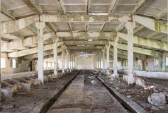 Inside an old abandoned barn Royalty Free Stock Image