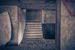 Inside of old abandoned building with construction unfinished. Royalty Free Stock Photos