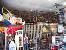 Inside the old American Pickers building Stock Image