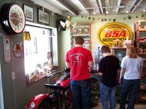 Inside the old American Pickers building Stock Photography