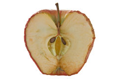 Inside of an old apple stock photography