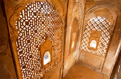 Inside old balcony in Rajasthan Royalty Free Stock Photography