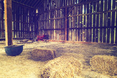Inside the old barn Royalty Free Stock Images