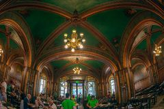 Inside in the old Beer Carriage Restaurant, Bucharest, Romania royalty free stock photos